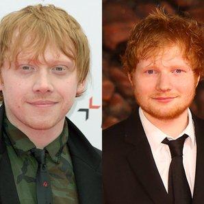 Rupert Grint & Ed Sheeran in suits