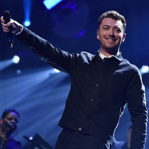 Sam Smith at the 2015 iHeartRadio Music Festival