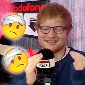 Ed Sheeran Big Top 40 Studio injury story